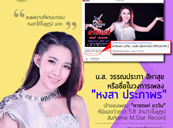 Current student in Aviation Business International Program Miss Wannaprapha Sihasuk or Name in the music industry