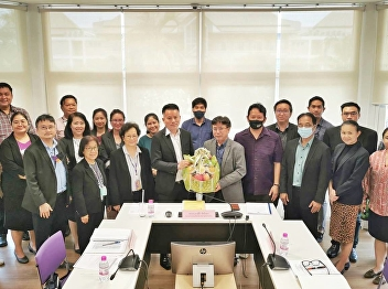 College of Hospitality Industry Management Give a basket to congratulate Assistant Professor Dr. Kannaphat Kankaew