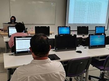 วิทยาลัยการจัดการอุตสาหกรรม จัดประชุมตัดค่าระดับคะแนน ภาคเรียนที่ 2/2563 ผ่านระบบออนไลน์ Google Meet